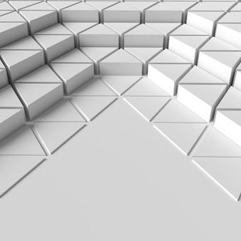 Alta visualização de fundo de formas geométricas em 3d
