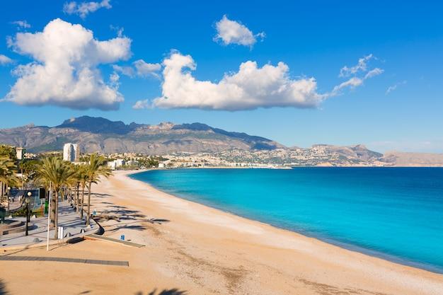 Altea playa del albir de pedras brancas em alicante espanha