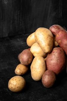Alto ângulo de batatas