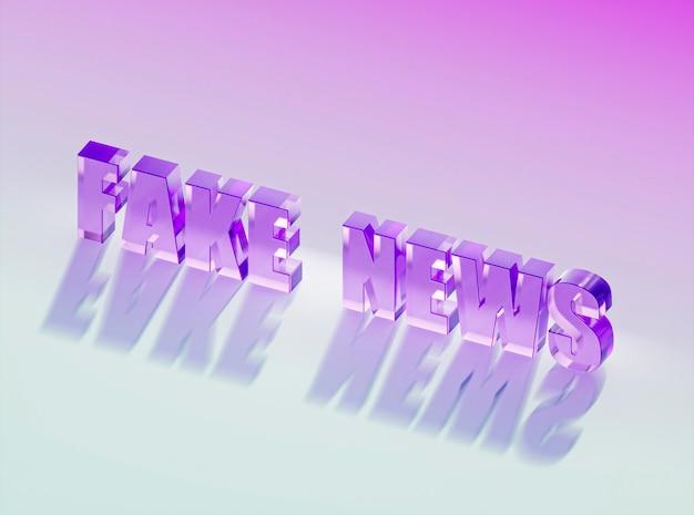 Alto ângulo de notícias falsas com sombra