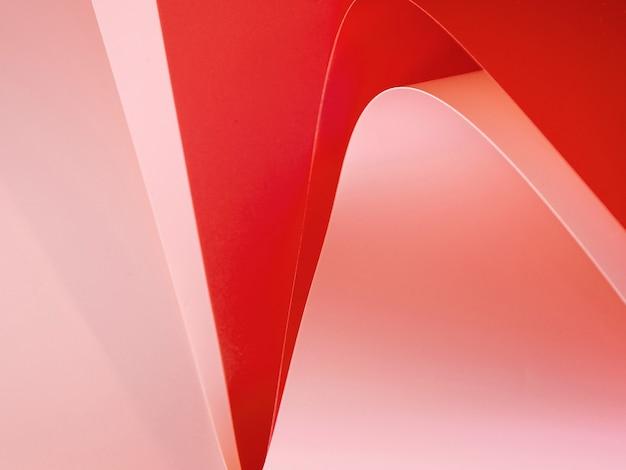 Alto ângulo de papéis dobrados coloridos abstratos