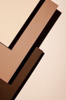 Alto ângulo de papel de carta com espaço de cópia