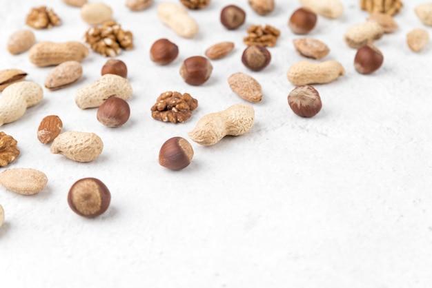 Alto ângulo do conceito de chesnuts