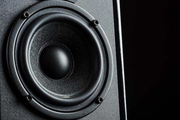 Alto-falantes do sistema de alto-falante em close-up