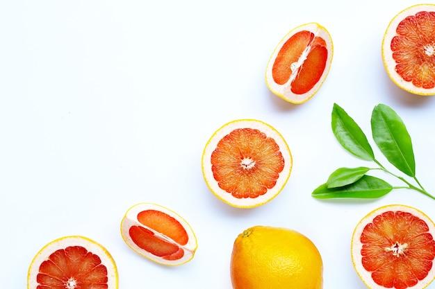 Alto teor de vitamina c. toranja suculenta