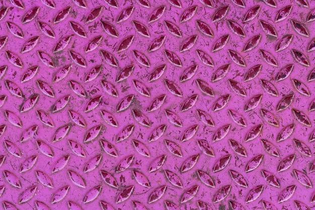 Alumínio rosa com textura de formas de losango para segundo plano