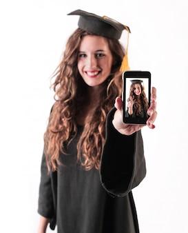 Aluna graduada