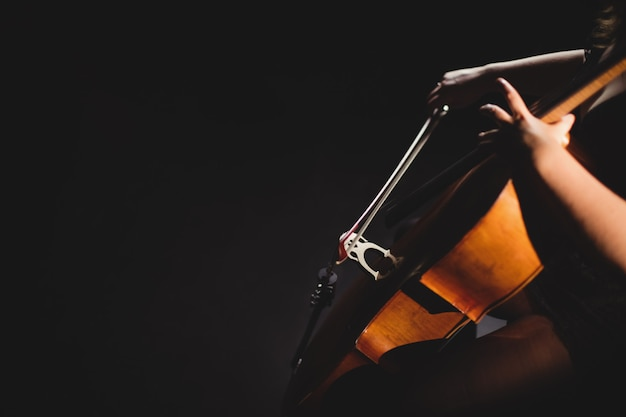 Aluna tocando violino