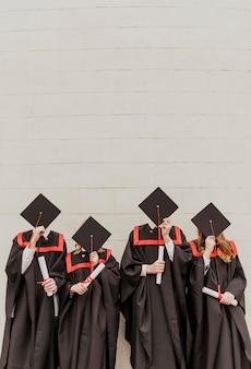 Alunos graduados em cópia
