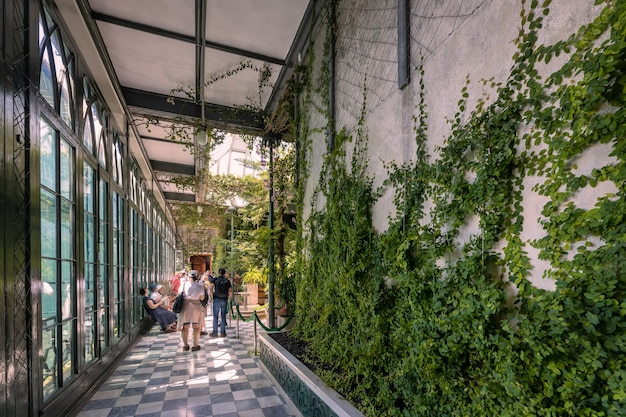 Alupka crimea interior do palácio do conde vorontsov jardim de inverno