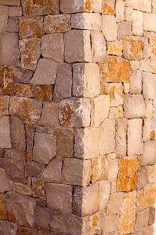 Alvenaria parede de pedra canto detalhe construcion trabalho