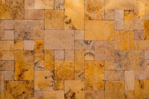 Alvenaria, stonewall, composição, ardósia, dourado, pedra