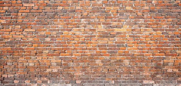 Alvenaria vintage. parede de tijolo vermelho