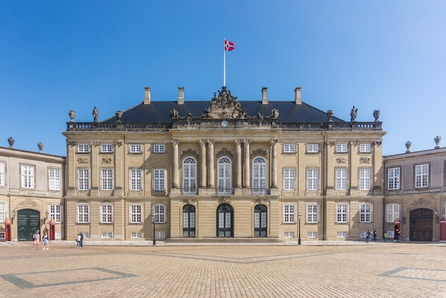 Amalienborg é uma casa da família real dinamarquesa, copenhague, dinamarca