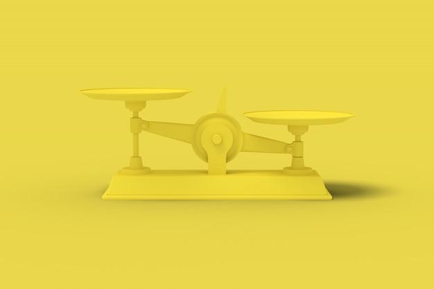 Amarelo escalas renderização em 3d.