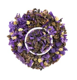 Amarre chá guan yin com flores de malva