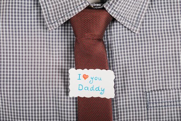 Amarre o conceito para o dia dos pais