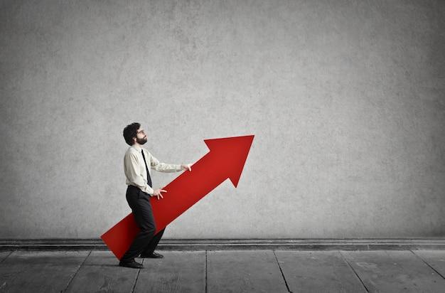 Ambição de carreira para o sucesso