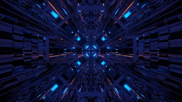 Ambiente cósmico com luzes laser de néon coloridas - perfeito para um papel de parede digital