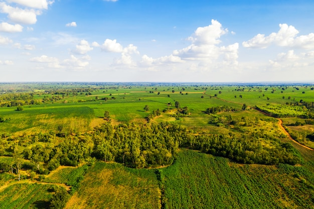 Ambiente de paisagem área vista na zona rural