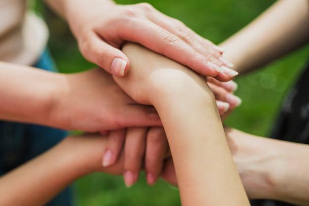 Ambiente e conceito de voluntariado