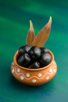 Ameixa jambolan ou jambul ou fruta jamun, ameixa java (syzygium cumini).