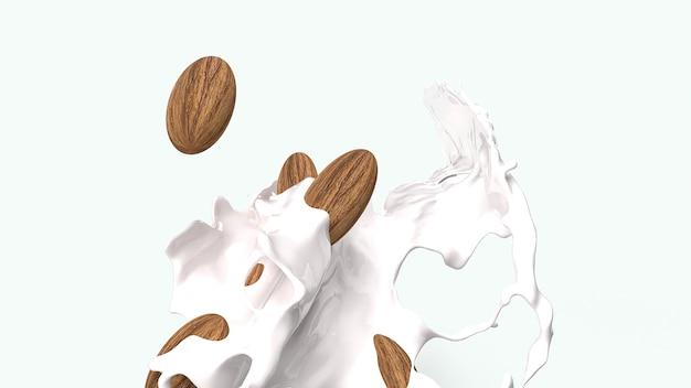 Amêndoa em respingo de leite