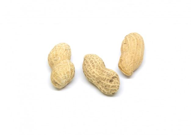 Amendoim isolado na tela branca