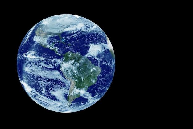 América do sul vista do espaço. os elementos desta imagem foram fornecidos pela nasa. foto de alta qualidade