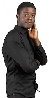 Amigável homem afro-americano