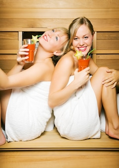 Amigos na sauna