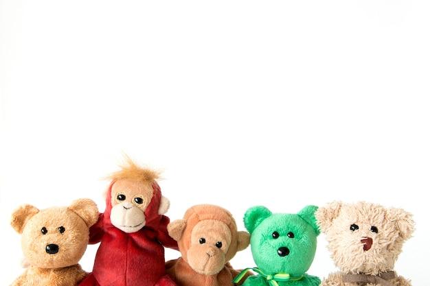 Amizade - macaco bonito com amigos estão segurando nos braços