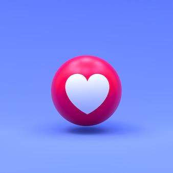 Amo a reação do facebook 3d emoji