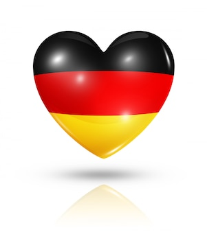 Amo o ícone de bandeira do coração da alemanha