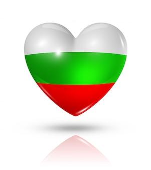 Amo o ícone de bandeira do coração da bulgária