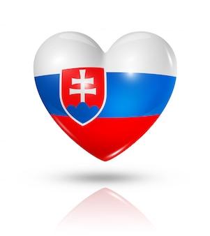 Amo o ícone de bandeira do coração da eslováquia