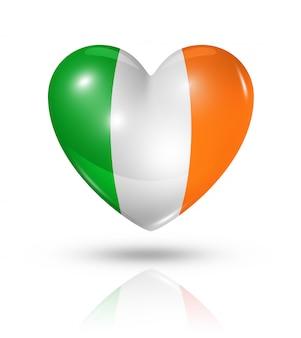 Amo o ícone de bandeira do coração da irlanda