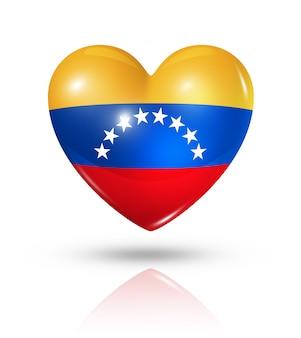 Amo o ícone de bandeira do coração da venezuela