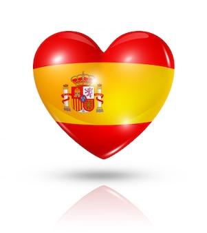 Amo o ícone de bandeira do coração de espanha