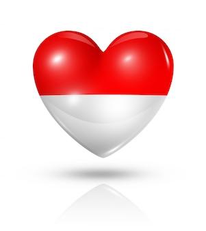 Amo o ícone de bandeira do coração de mônaco