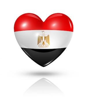 Amo o ícone de bandeira do coração do egito
