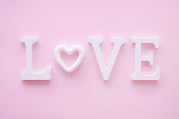 Amor bonito escrever com o coração
