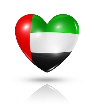 Amor emirados árabes unidos coração ícone de bandeira