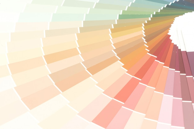 Amostra cores catálogo pantone fundo