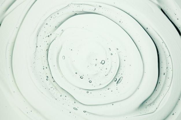 Amostra cosmética transparente de gel de creme