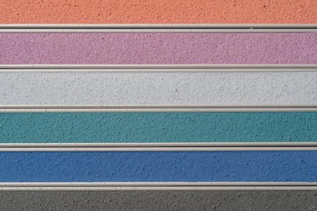 Amostra de argamassa multicolorida close-up decoração de interiores construção trabalho interior
