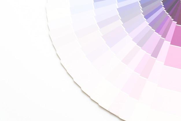 Amostra de cores catálogo pantone