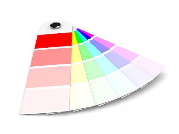 Amostra de cores pantone