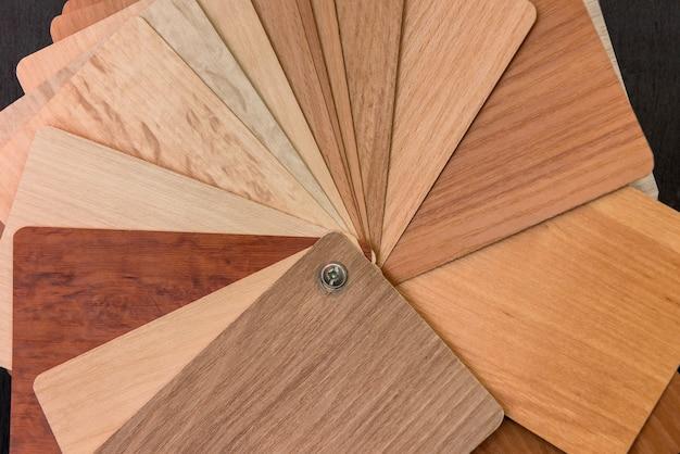 Amostra de textura de material para design de móveis de interiores