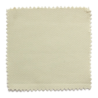 Amostras de amostra de tecido bege, isoladas no fundo branco